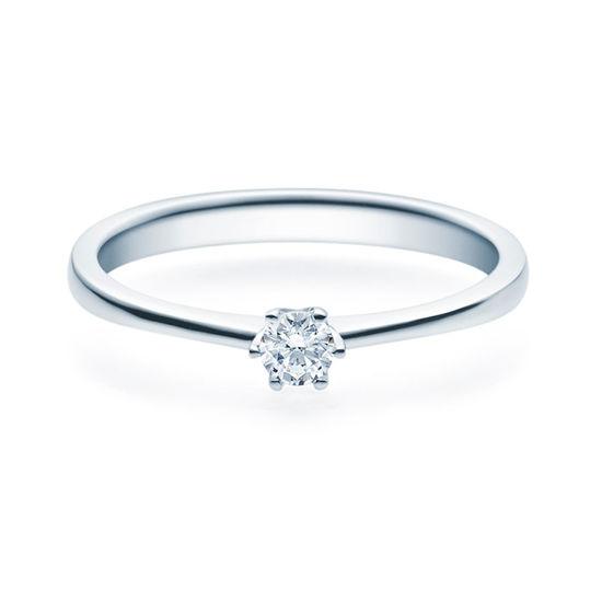Enstens diamantring Aida med 0,16 ct TW-Si i platina -18016016pt