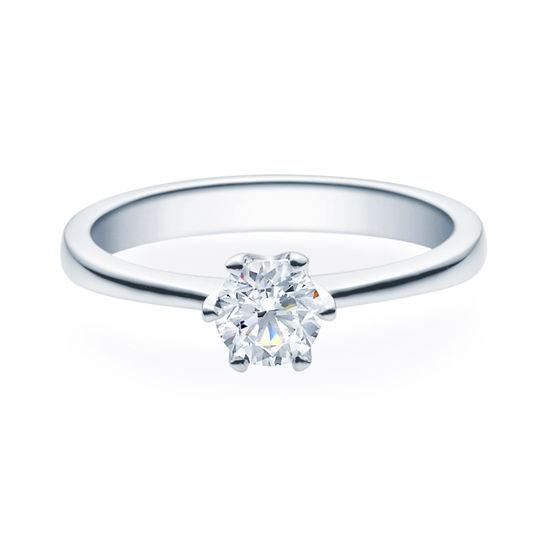 Enstens diamantring Aida med 0,50 ct TW-Si i platina -18016050pt