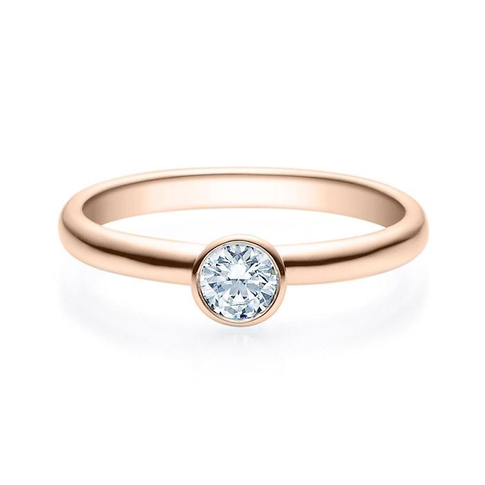 Enstens diamantring med 0,25 ct i 14kt gull. TW-Si. -18019025