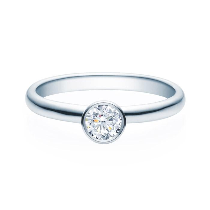 Enstens diamantring med 0,30 ct i 14kt gull. TW-Si. -18019030