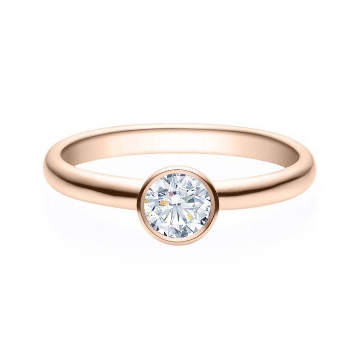 Enstens diamantring med 0,40 ct i 14kt gull. TW-Si. -18019040