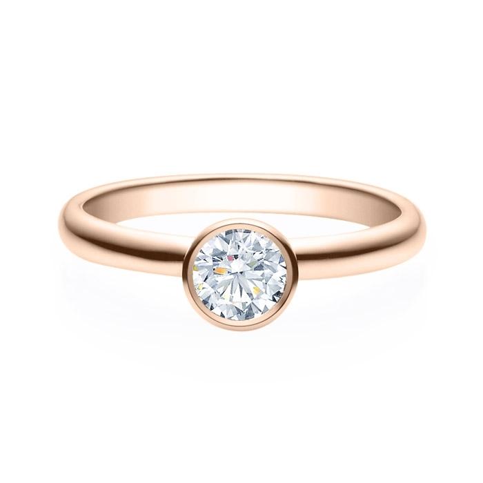 Enstens diamantring med 0,50 ct i 14kt gull. TW-Si. -18019050