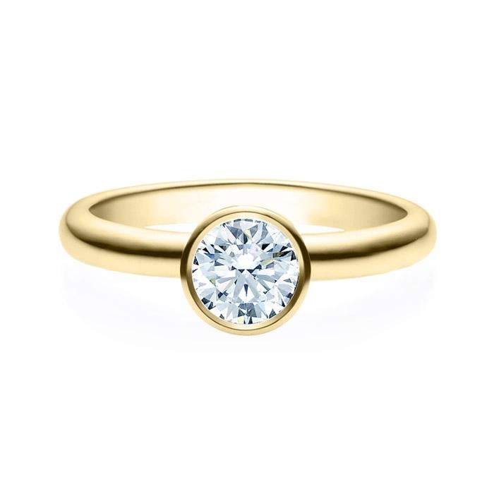 Enstens diamantring med 0,70 ct i 14kt gull. TW-Si. -18019070