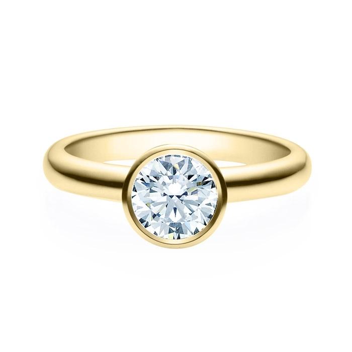 Enstens diamantring med 1,00 ct i 14kt gull. TW-Si. -18019100