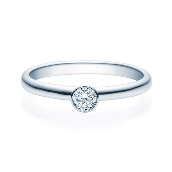 Enstens diamantring med 0,16 ct TW-Si i platina -18019016pt