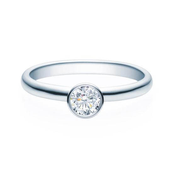Enstens diamantring med 0,30 ct TW-Si i platina -18019030pt