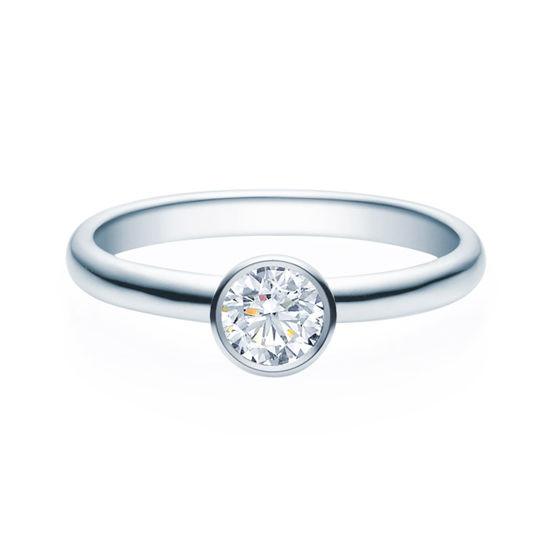 Enstens diamantring med 0,40 ct TW-Si i platina -18019040pt