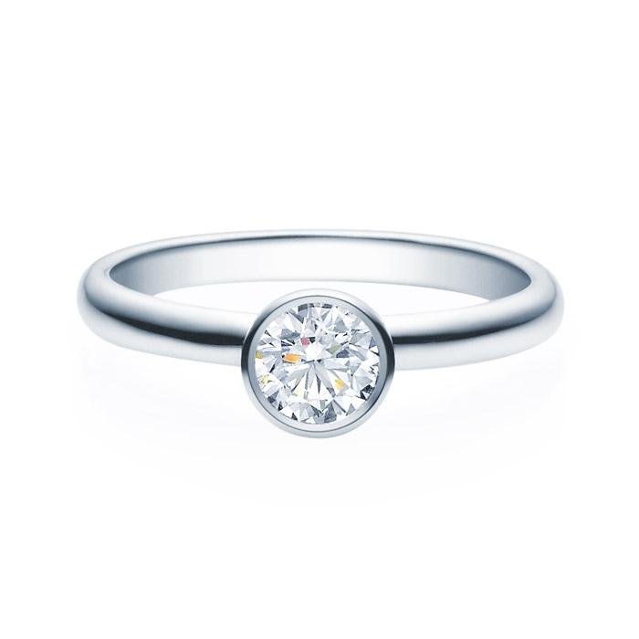 Enstens diamantring med 0,50 ct TW-Si i platina -18019050pt