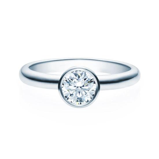 Enstens diamantring med 0,70 ct TW-Si i platina -18019070pt