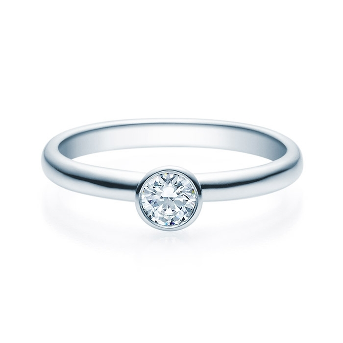 Enstens diamantring med 0,25 ct TW-Si i platina -18019025pt