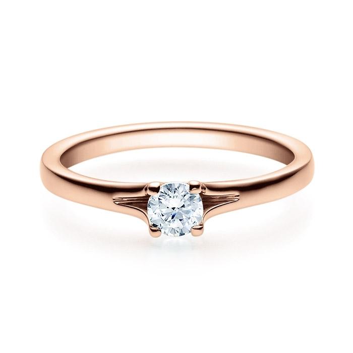 Enstens diamantring med 0,25 ct i 14kt gull. TW-Si. -18020025