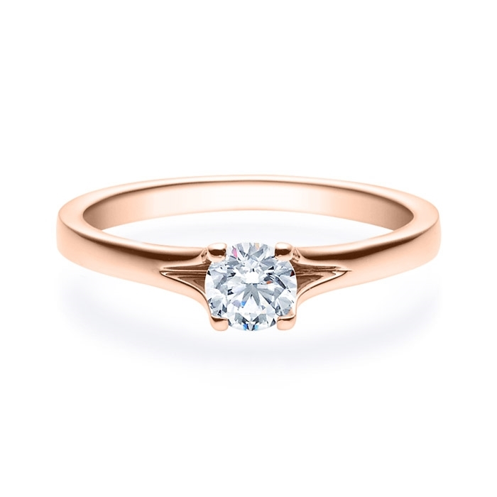 Enstens diamantring med 0,40 ct i 14kt gull. TW-Si. -18020040