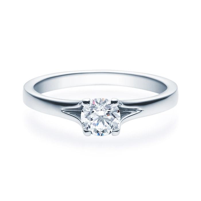 Enstens diamantring med 0,50 ct i 14kt gull. TW-Si. -18020050