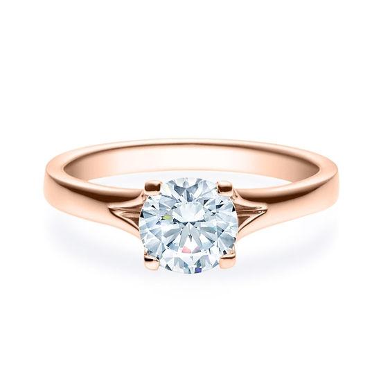 Enstens diamantring med 1,00 ct i 14kt gull. TW-Si. -18020100