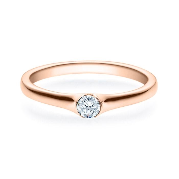 Enstens diamantring med 0,16 ct i 14kt gull. TW-Si. -180022016