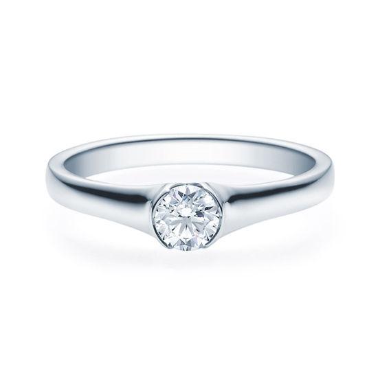 Enstens diamantring med 0,30 ct i 14kt gull. TW-Si. -180022030