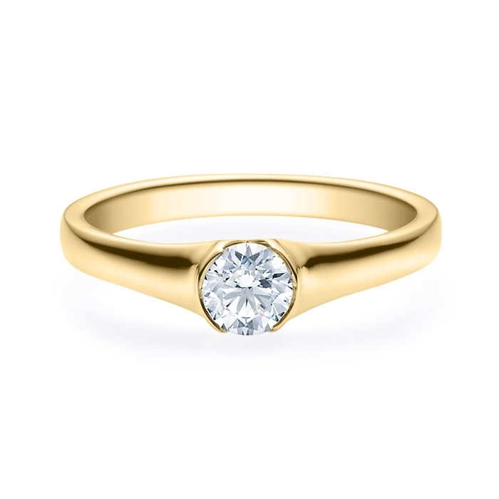 Enstens diamantring med 0,40 ct i 14kt gull. TW-Si. -180022040