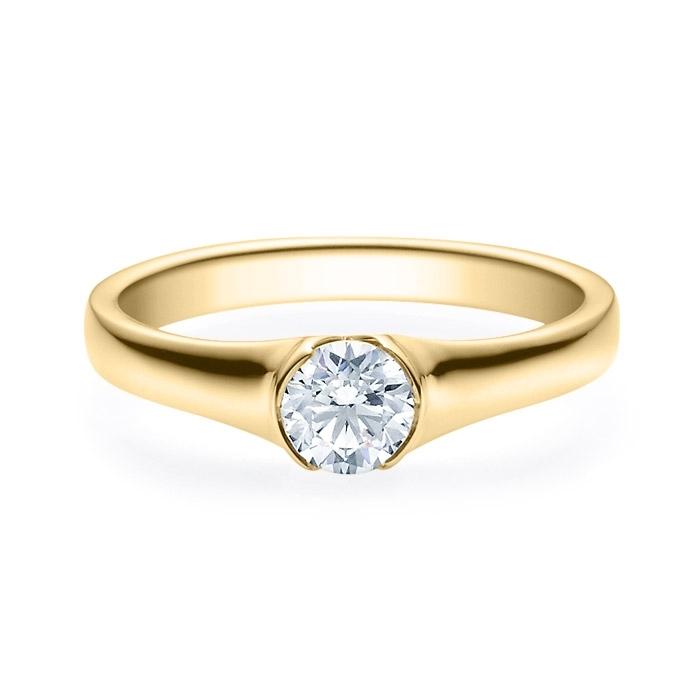 Enstens diamantring med 0,50 ct i 14kt gull. TW-Si. -180022050