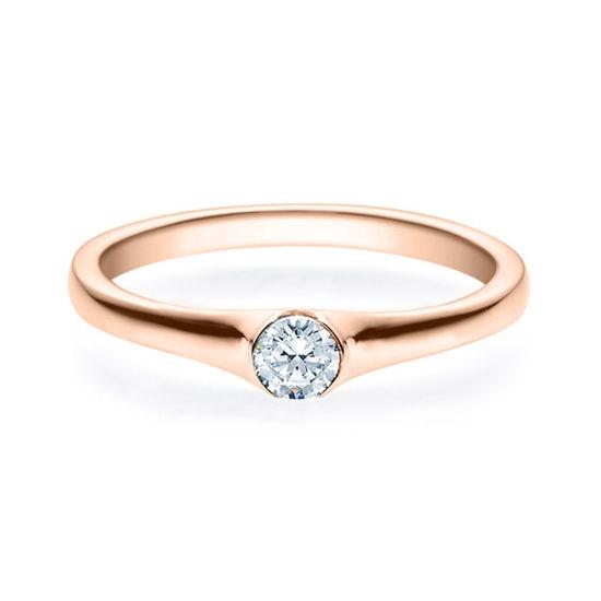 Enstens diamantring med 0,20 ct i 14kt gull. TW-Si. -180022020