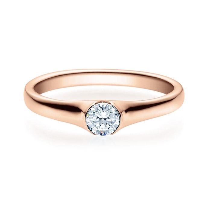 Enstens diamantring med 0,25 ct i 14kt gull. TW-Si. -180022025