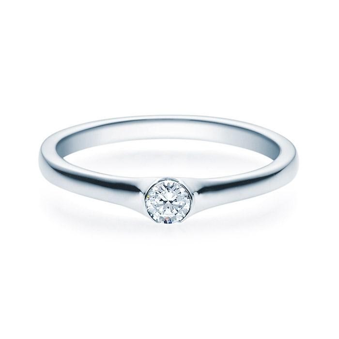 Enstens diamantring med 0,16 ct TW-Si i platina -18022016pt