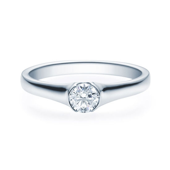 Enstens diamantring med 0,30 ct TW-Si i platina -18022030pt