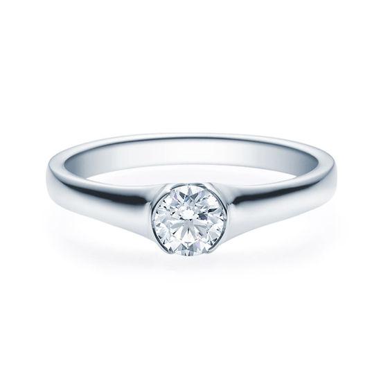 Enstens diamantring med 0,40 ct TW-Si i platina -18022040pt