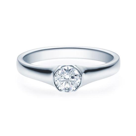 Enstens diamantring med 0,50 ct TW-Si i platina -18022050pt
