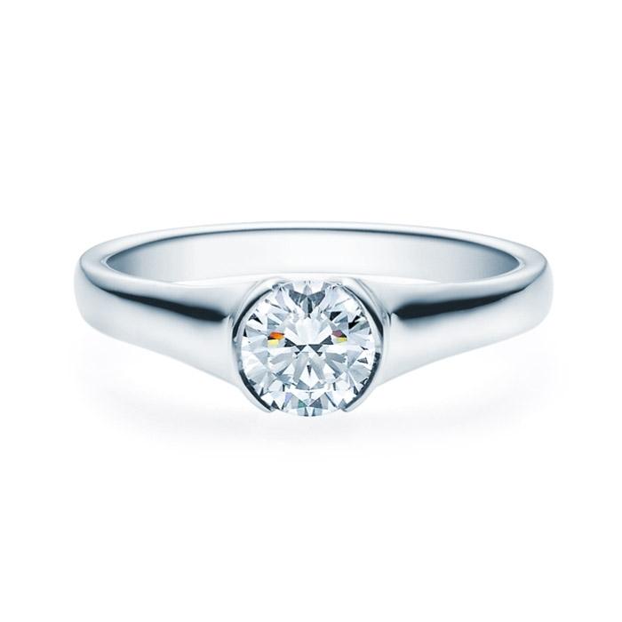Enstens diamantring med 0,70 ct TW-Si i platina -18022070pt