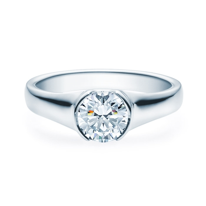 Enstens diamantring med 1,00 ct TW-Si i platina -18022100pt