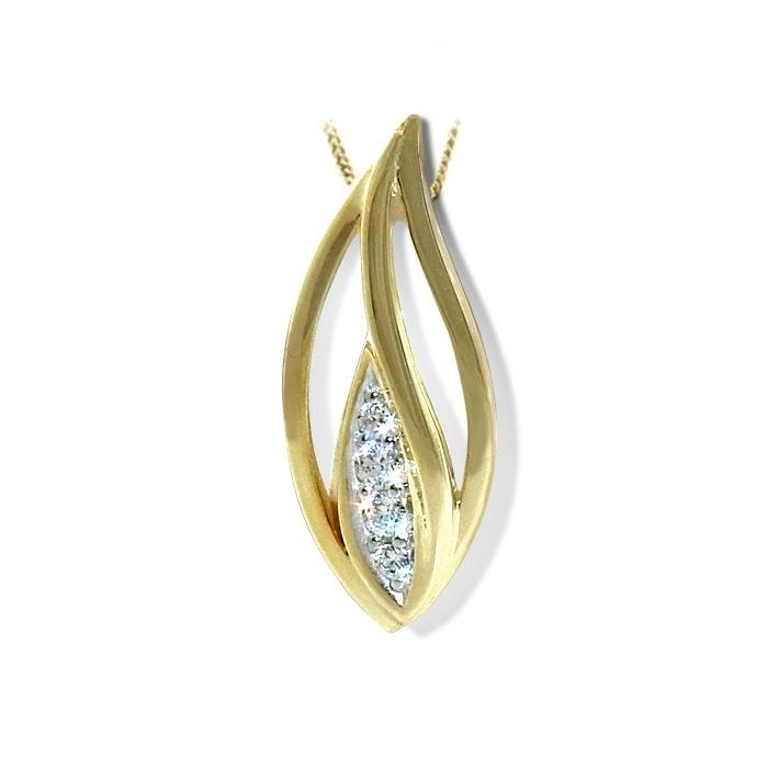 Smykke i gult & hvitt gull med zirkonia - 292226