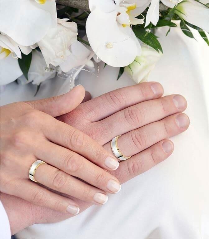 illustrasjon med hånd av gifteringer -72040500