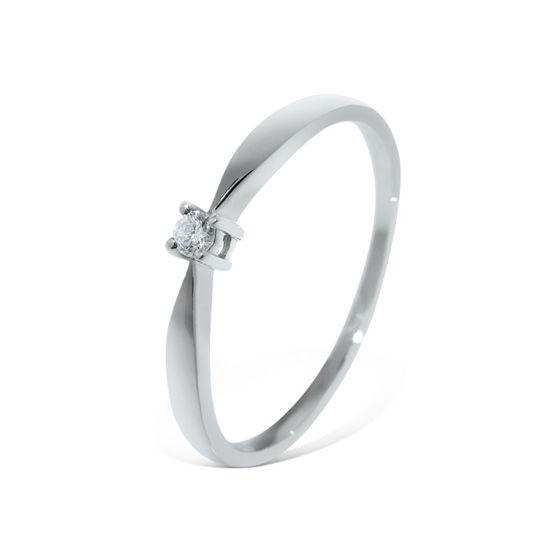 Diamantring i hvitt gull med 0,03 ct W-Si - COC00552h