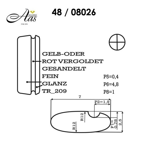 Skisse av Forlovelsesringer, SØLV MED DIAMANT -  4808025