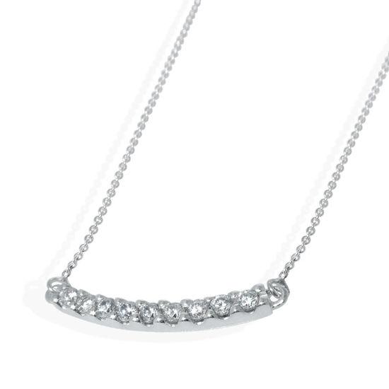 Diamantsmykke i hvitt gull -151150