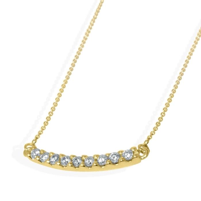Diamantsmykke i gult gull -1511500