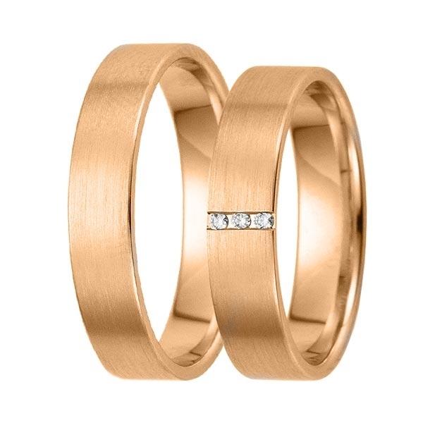 Gifteringer i rosé gull 9kt, 4,5 mm. GETTMANN -83484500
