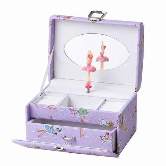 Smykkeskrin med ballerina, Lilla/hvitt - 3463766