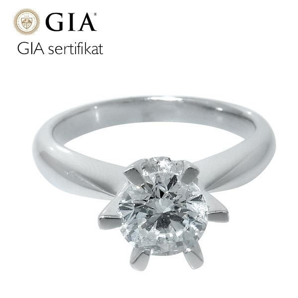 Diamantring forlovelsesring - frierring Athene 0,80ct D-Si1 -50352080