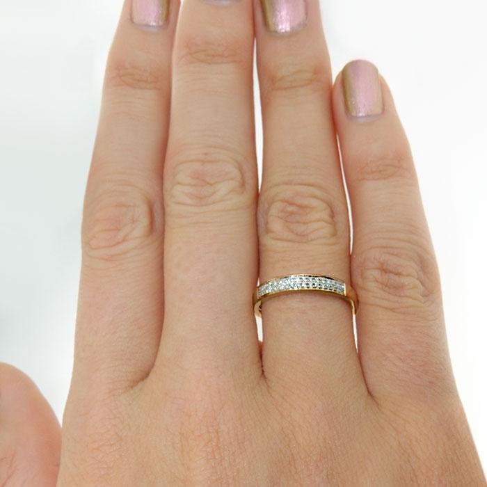 Diamantring i gult gull med 0,16 ct W-Si-33070160