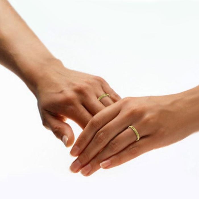 illustrasjon med hånd av gifteringer -2303535