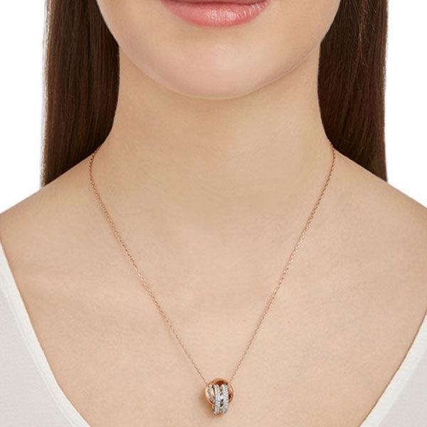 Swarovski smykke Further Pendant, White, Rose-gold tone plated - 5240525