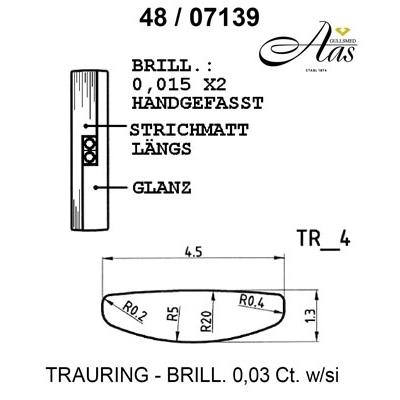 Gifteringer i palladium 950 fra Breuning -14807139