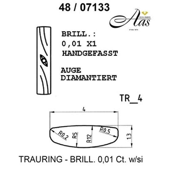 Gifteringer i palladium 950 fra Breuning -14807133