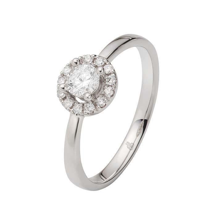 Flerstens diamantring Ja! med 0,35 ct TW-Si i 9kt gull -5100025