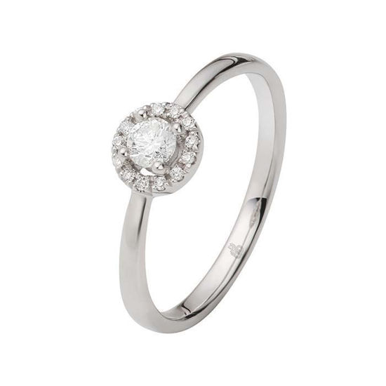 Flerstens diamantring Ja! med 0,23 ct TW-Si i 9kt gull -5100022
