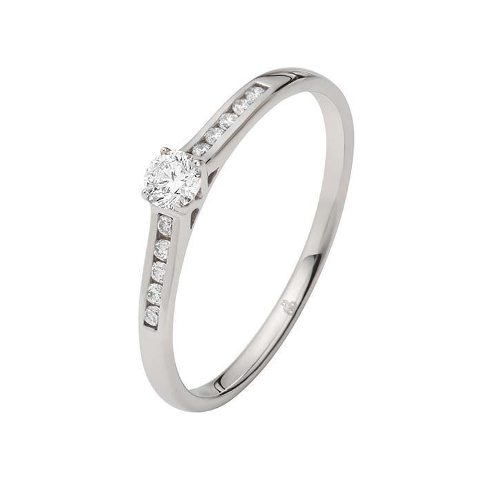 Flerstens diamantring Ja! med 0,17 ct TW-Si i 9kt gull -5100033