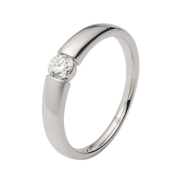Enstens diamantring Ja! med 0,26 ct i 9kt gull. TW-Si. -5100030