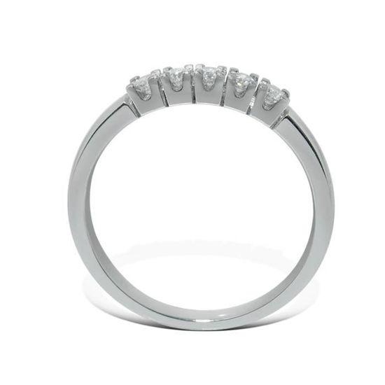 Diamantring Iselin med 5x0,05 ct TW-Si-8505050