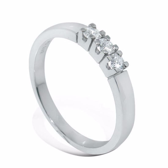 Diamantring Iselin med 3x0,07 ct TW-Si-8503070